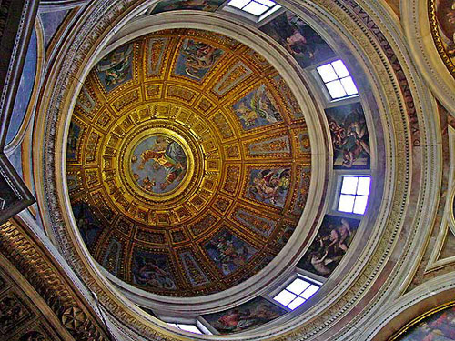 The dome of the Augustinian Church of Maria del Popolo in inner Rome