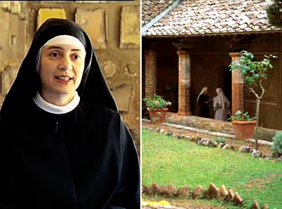 Lecceto: Augustinian contemplative nun, and inner cloister