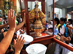 Each January, Santo Nino festival at Cebu, Philippines
