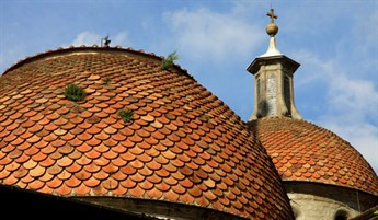 The tiled domes of Santo Spirito Church, Florence