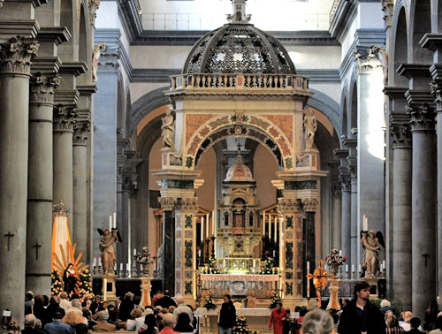 Santo Spirito Church in Florence, conducted by the Augustinians