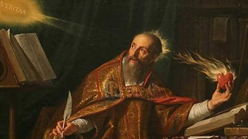 "Augustine the author looks to ""veritas"" (truth) for his inspiration"