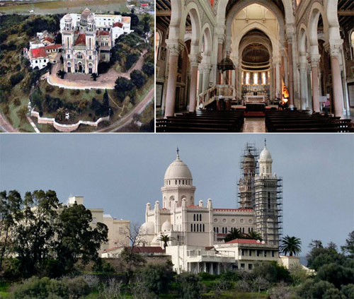 Basilica of St Augustine at Annaba, overlooking the Hippo archaeological ruins