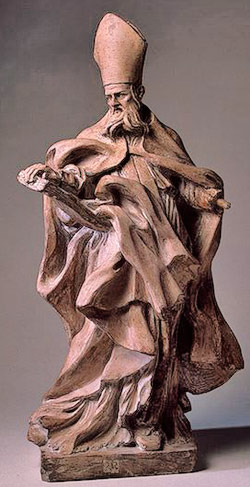 Saint Augustine, carved by Bernini