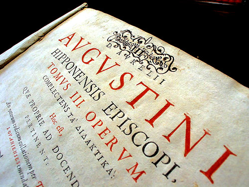 A medieval printing of Augustine's complete works in Latin