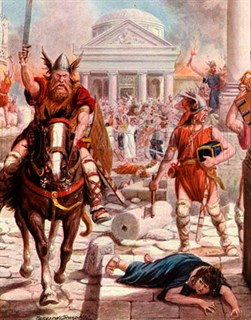 Artistic impression: the sack of Rome