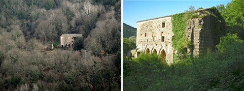 Still isolated, Santa Lucia eremo (hermitage) at Rosia, now unoccupied.
