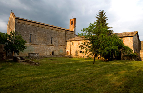 Church of S. Leonardo al Lago, near Lecceto. (Government property - closed)