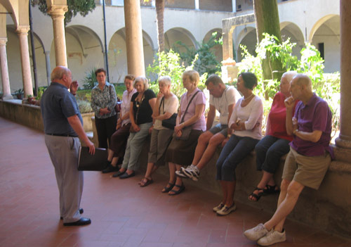 An Australian Augustinian pilgrim group at San Gimingnano