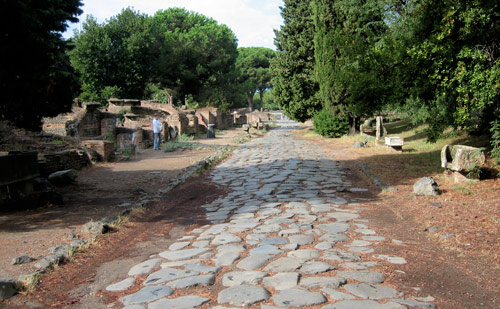A road in Ostia Antica, probably unchanged since Augustine was there