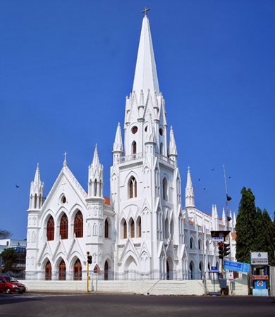 Madras Cathedral, built long after the Augustinian episcopacy