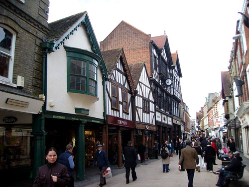 A street in Winchester today