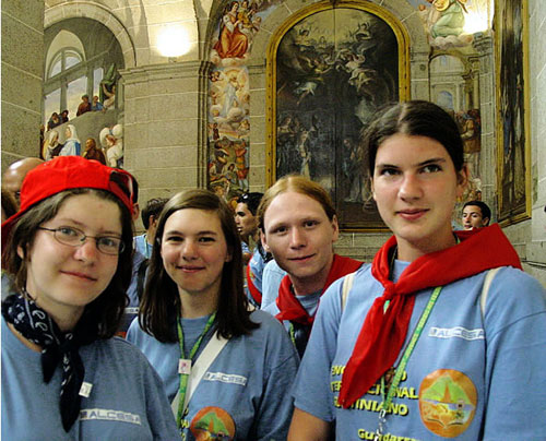 Polish Augustinian young adults at an Encounter in Spain