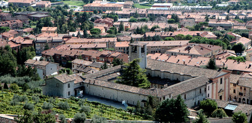 (In the foreground:) Augustinian vineyard, monastery and church at Gubbio