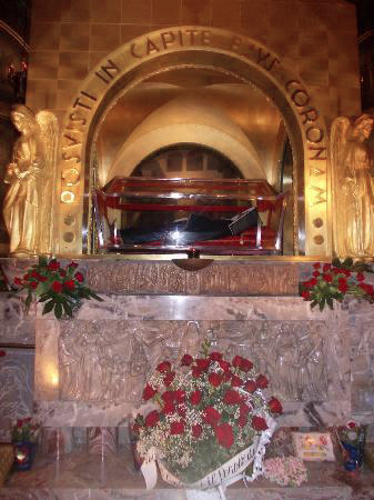 The crypt of St Rita, in the Shrine at Cascia, Italy.