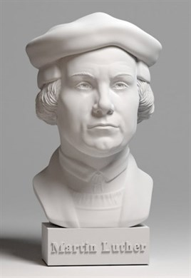 A bust of Martin Luther