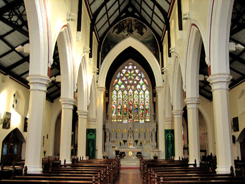 The interior of the Augustinian Church at St John's Lane