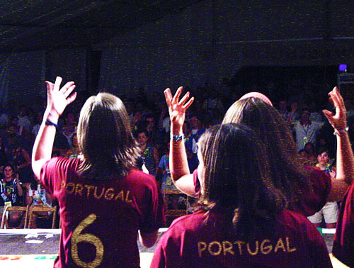 Portuguese group at an Augustinian International Encounter in Spain