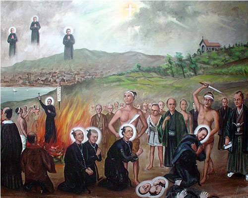 Depiction of the Japanese Augustinian martyrs (early 17th Century)