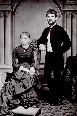 A formal portrait of Leoš Janáček and his wife