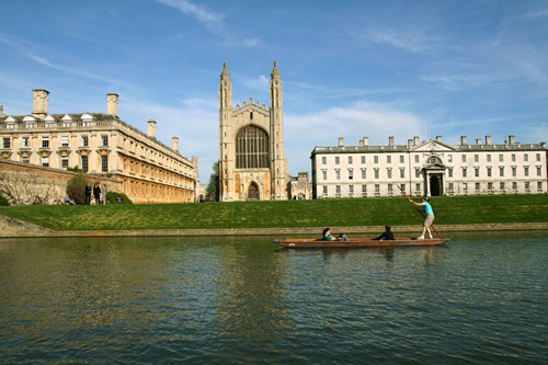 Some university buildings and the River Cam at Cambridge