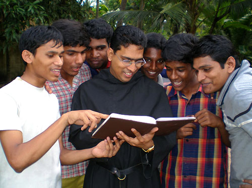 Some candidates of the Augustinian Order in India.