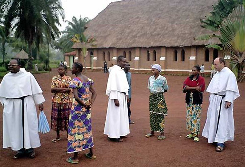 Augustinian friars and parishioners in the Congo, Africa.