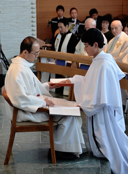 Professing Augustinian solemn vows at Nagoya, Japan