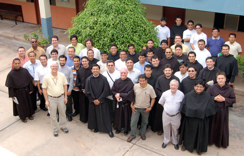 Some South American Augustinians at a meeting in Peru