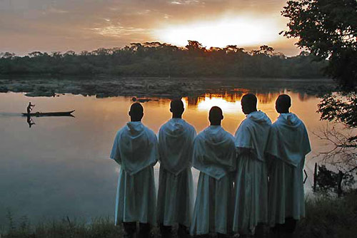 Augustinian novices and a Kenya sunset