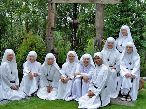 Augustinian contemplatve nuns at Bulacan monastery, Philippines