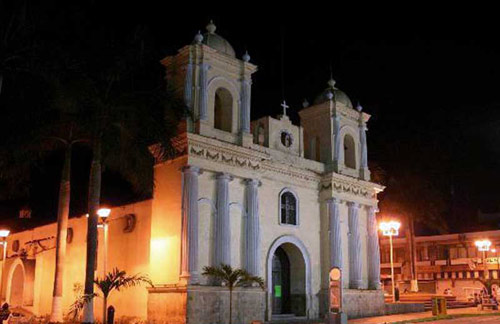 Church of St Augustine in Chiapas, Mexico in which town Juan Mendoza was the bishop.