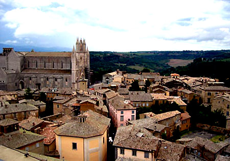 The city of Viterbo, where Giles was the bishop
