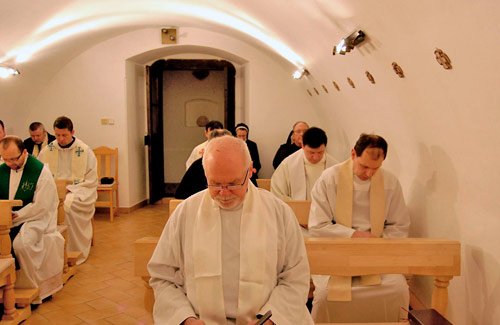 Augustinians at prayer in Poland