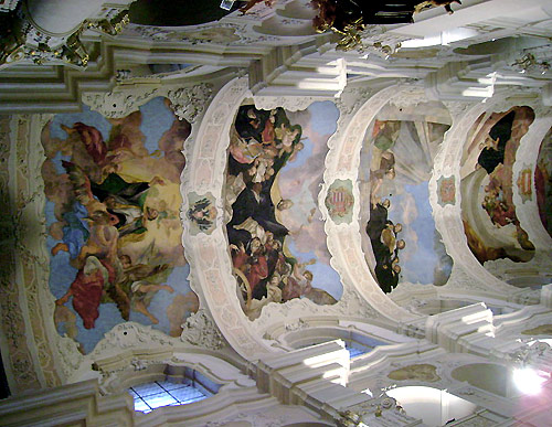 Ceiling of the Augustinian Church of St Thomas in Prague