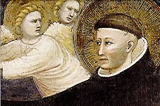 St Nicholas of Tolentino (1245 - 1305 AD), one of the first canonised Augustinians.